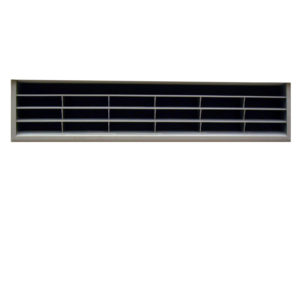 Ventilation Grid, Satin Nickel - 367 mm x 79 mm
