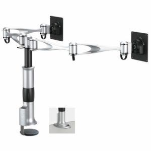 Desk-Mountable Dual LCD Arm