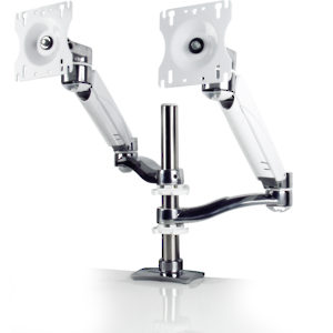 Dual-Screen, Double-Extension Arms with Height-Adjustable Segment (One per Screen)