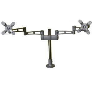 Dual Monitor Double Extension Arm LCD Flat Panel Desk Mount  Height Adjustable